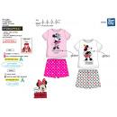 Minnie - pyjacourt T-Shirt & sh drukt 100% cot