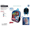 Avengers CLASSIC - 3d metal backpack bag 60% polye