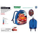Cars - 3d backpack 30x24x8cm 100% polyester