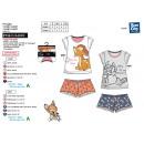 BAMBI - pyjacourt t-shirt & sh imprime 100% cotton