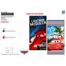 CARS 3 - serviette de plage cotton majo