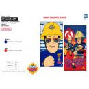 FIREMAN SAM - serviette de plage cotton majo