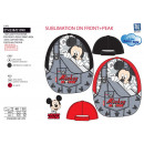 MICKEY - casquette sublimee 100% polyester / 100%
