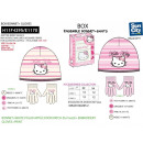 Hello Kitty - sombrero y guantes de cuadro 100% ac