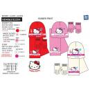Hello Kitty - set 3 pezzi sciarpa e guanti e camer