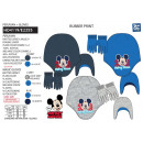 Mickey - set 2 pieces hat & gloves multi