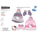 grossiste Articles sous Licence: HELLO KITTY - set 2 pièces bonnet & gants multi