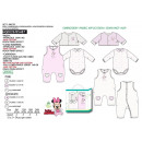 MINNIE - ensemble body & combi & cardigan 100% cot