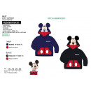 MICKEY - gilet manches longues zip deguisement 100