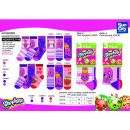 wholesale Socks and tights: SHOPKINS - pack 3 socks 70% cotton 18% poly