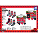 grossiste Articles sous Licence: CARS - pack 3 chaussettes 70% cotton 18% polyester