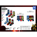 Transformers - pack 3 socks 70% cotton 18% p