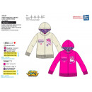 SUPER WINGS - sweat capuche zippe 65% polyester /