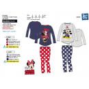 nagyker Licenc termékek: Minnie - pizsama hosszú, 100% pamut
