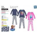 frozen - larga  pijama de  impresión 100% ...
