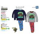 Großhandel Schlafanzüge: Ninja Turtles - lange Pyjama - Druck 100% Baumwoll