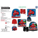 Spiderman - set 3pcs hat & collar & gloves
