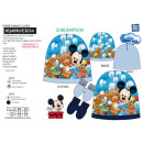 wholesale Licensed Products: Mickey - set 2 pieces hat & gloves 100% p