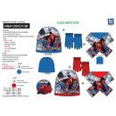 Spiderman - 3 piezas bufanda y guantes y tapa