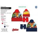nagyker Licenc termékek: Avengers CLASSIC - készlet 2 db kalap és kesztyű 1