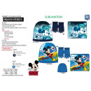 MICKEY - set 3pces bonnet & collar & gants 100