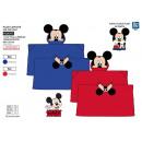 Großhandel Lizenzartikel: Mickey - karierte mit Kapuze 80x120cm coral 1