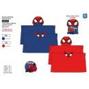 groothandel Wasgoed: Spiderman - plaid  hooded 80x120cm coral 1