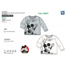 Mickey - T-Shirt larga de manga larga 100% c