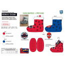 wholesale Socks and tights: Spiderman - 100% polyester slippers