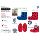 PAW PATROL - chaussons elastique 100% polyester