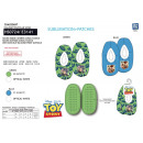 TOY STORY - chaussons elastique 100% polyester