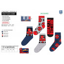 Spiderman - pack 5 socks 70% cotton 18% poly