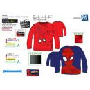 mayorista Artículos con licencia: Spiderman - T-Shirt manga larga 100% algodón