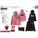 MINNIE - sweat capuche zippe 90% polyester / 10%