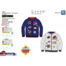 Fireman Sam - zipped hood sweatshirt 100% polyeste