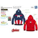 Avengers CLASSIC - zipped hooded sweatshirt 100% p