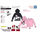 MICKEY - sweat capuche 60% cotton / 40% polyester