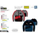 Star Wars VII - 65% polyester zipped hoodie