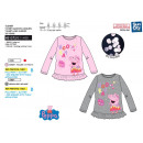 wholesale Children's and baby clothing: Peppa Pig - T-Shirt 100% long sleeves coton