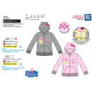grossiste Vetements enfant et bebe: PEPPA PIG - sweat capuche zippe 65% polyester / 35