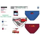 wholesale Underwear: Cars - box of 3 briefs 100% coton