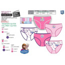 wholesale Licensed Products: frozen - kit of 5 panties 100% coto