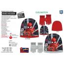 Spiderman - set 2 pezzi cappello e guanti multi