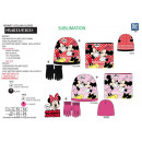 MINNIE - set 3pces bonnet & collar & gants mul