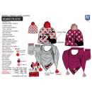 grossiste Articles sous Licence: MINNIE - bonnet & gants & foulard multi com