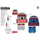 Avengers CLASSIC - set 2 pezzi cappello e guanti m