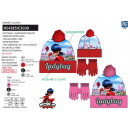 LADY BUG - set 2 pieces hat & gloves multi