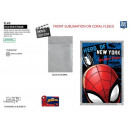 SPIDERMAN - plaid 90x140cm sherpa 100% polyester