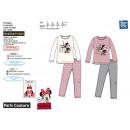 Minnie -langer Pyjama bedruckt 100% Baumwolle
