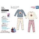 frozen - 100 % korallenroter langer Pyjama Polyest